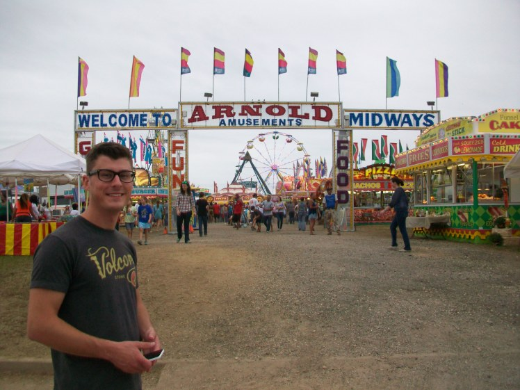 Adam at the fair