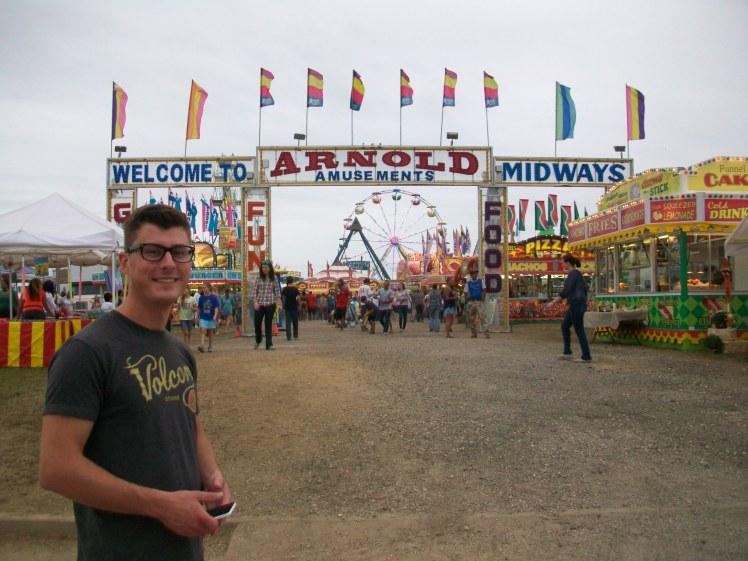 Adam at the fair
