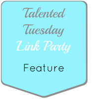 talented tuesday link party feature logo button