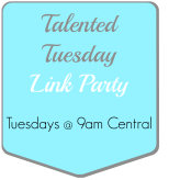 talented tuesday link party logo button
